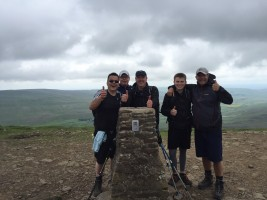 Cara Lads at the top of the World (well not quite!!!)