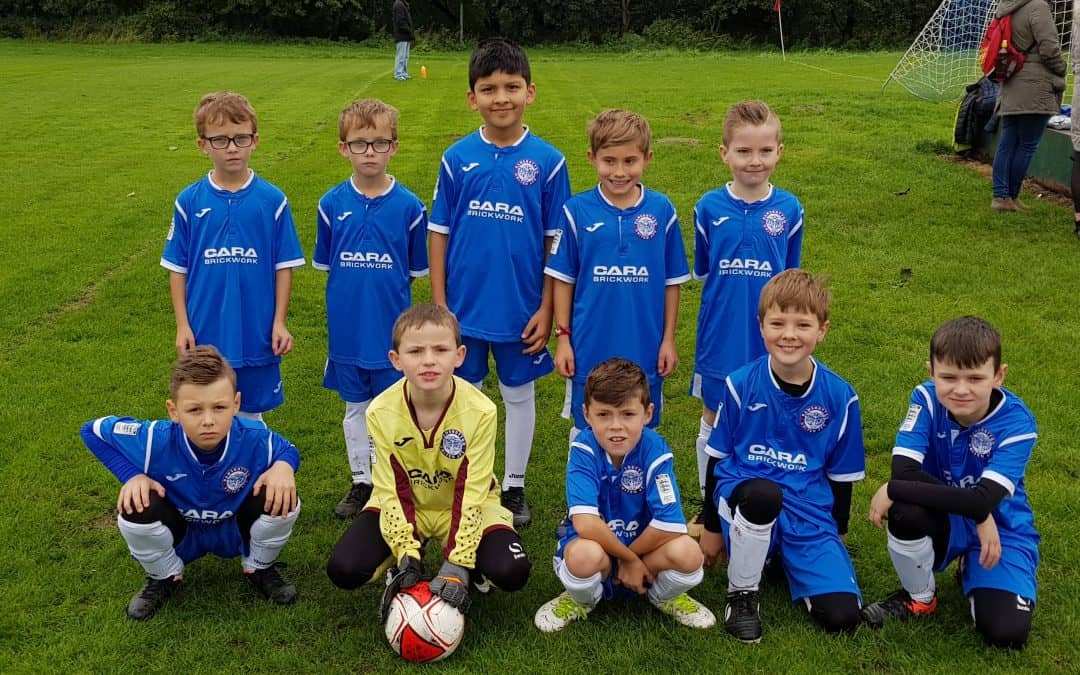 Cara Brickwork Provide Under 9's Football Sponsorship
