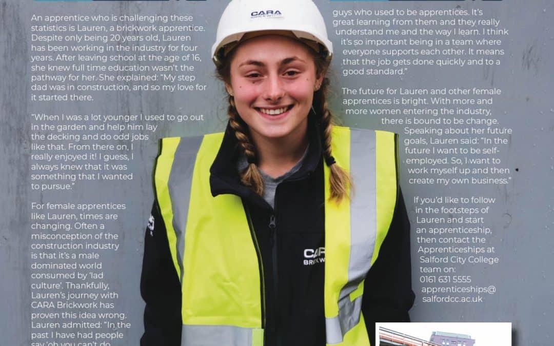 Good Luck to Lauren & Cara Brickwork at the Salford Apprentice Awards